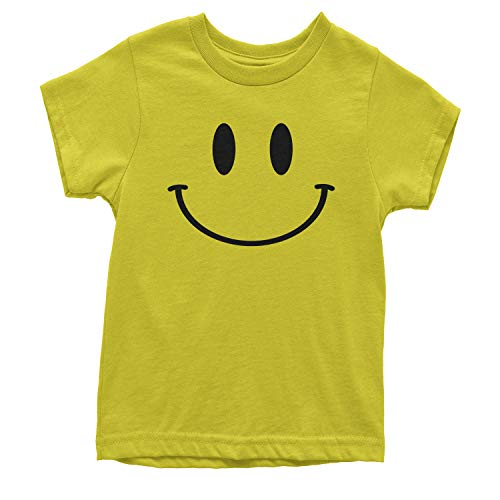 Expression Tees Youth Big Smiley Face T-Shirt X-Small Yellow