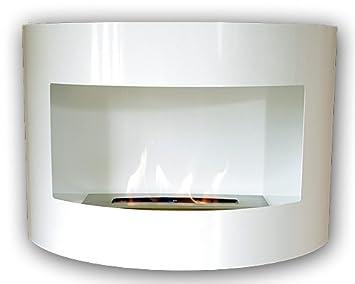 Design Kamin Gel Bio Ethanol Biokamin Riviera Deluxe Weiß