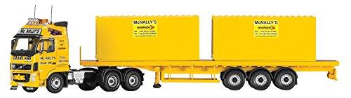 1/50 ボルボ FH 6x4 フラットベッド コンテナトレーラー Mc Nally`s CC14037