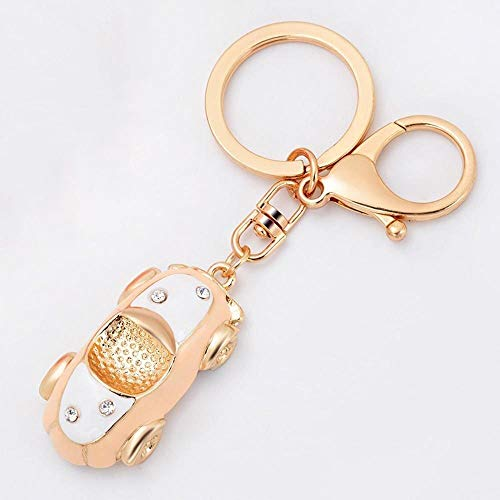 JiujiuYITech Convertible Car Keychain Metal Key Ring Bag Pendant (Color : A, Size : M)