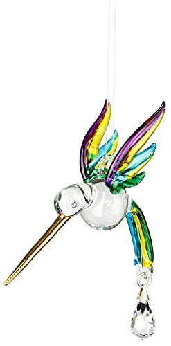 Woodstock Chimes CHPAS Rainbow Makers Crystal Suncatchers Fantasy Glass Hummingbird, Spring Pastels ()