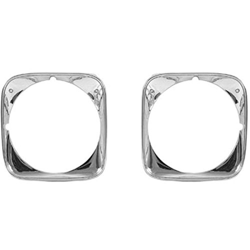 El Camino Headlamp Bezels - Eckler's Premier Quality Products 55-193352 El Camino Headlight Bezels,