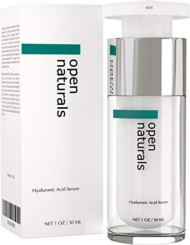 Open Naturals HYALURONIC ACID Skin Serum - The Best Anti Ageing & Anti Wrinkle Serum - This Premium Organic Serum Will Plump, Hydrate & Brighten Skin In Those Fine Lines & Wrinkles