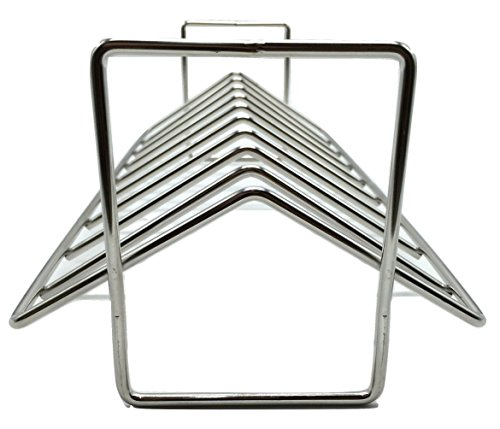 Aura Outdoor Products AOP-SVRP Stainless Steel Rib and Roasting Rack. For use with Big Green Egg, Kamado Joe, Vision, Grill Dome, Primo, and all indoor ovens