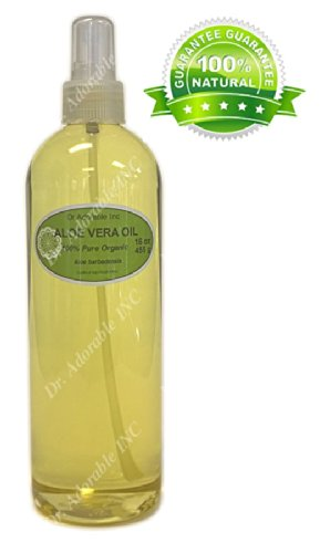 Aloe Vera Oil For Skin Hair And Health Comes with a Sprayer 16 oz/1 pint