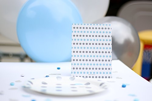 Elephant Baby Shower Invitations Boy (Blue) 20 Ct. 5x7 Cards with Chalkboard Background - Fill in Style and Blue and Grey Polka Dot Background - Includes White A7 Envelopes - Boy Baby Shower - by Party Printery (Image #7)
