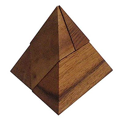 BRAIN GAMES Wooden Pyramid Puzzle 4 Pcs