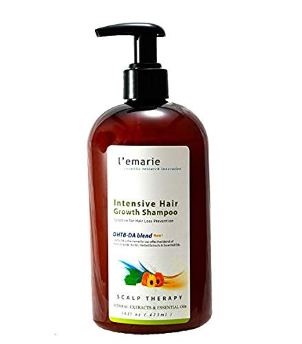 L'emarie Intensive Hair Growth and Hair Loss Shampoo + Thinning Hair With Biotin, Caffeine, Pea Peptide, Herbal Extracts, Essential Oils - Hair Growth Treatment for Men and Women 16 Ounces
