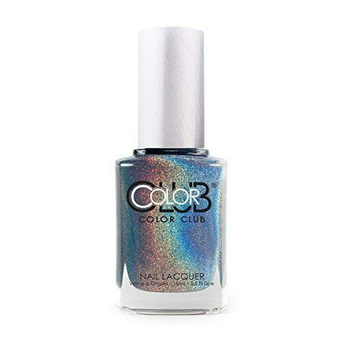 Color Club Halographic Hues Nail Polish, Shimmering Sky Colors, Over The Moon.05 Ounce