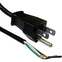 eDragon NEMA 5-15P to Standard ROJ Power Cord, Black, 18/3 (18AWG 3 Conductor) SVT, 10 Amp / 125 Volt, 6 feet, 5 Pack Power Cable, (ED71132)