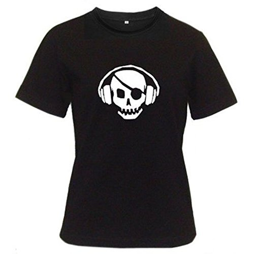 (Funny T-Shirts Skull Rock Music T-Shirt for Adults, Women, Girls- 2X-Large - Black)