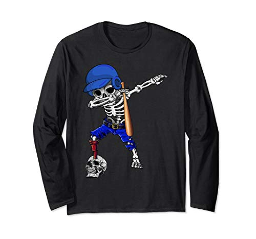 Dabbing Baseball Player Halloween Costume For Men Women Long Sleeve T-Shirt