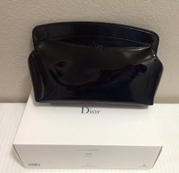 Amazon.com: Dior bolsa de maquillaje bolsa, color negro: Beauty