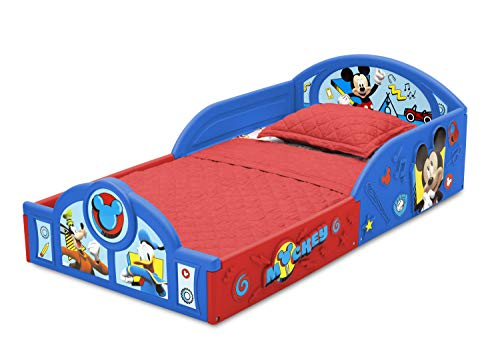 Disney Mickey Mouse Deluxe Toddler Bed with Attached Guardrails 7