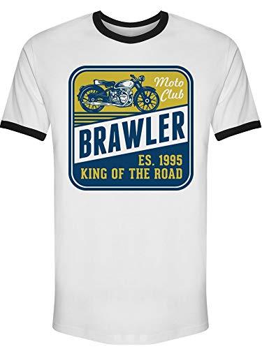Vintage Moto Club Brawler Tee Men's -Image by ()