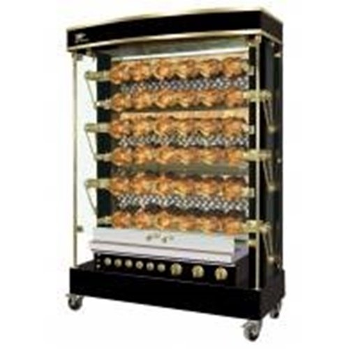 Rotisol MF1375-6G-LUX MasterFlame 'Rustic-Style' Rotisserie Oven gas countertop
