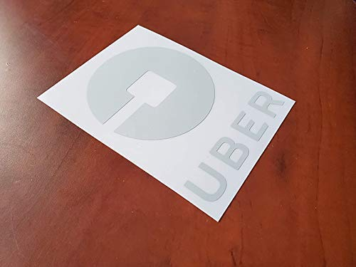 glow in the dark rideshare sticker decal logo for the rear or side window of your rideshare car van suv 6 Reflective