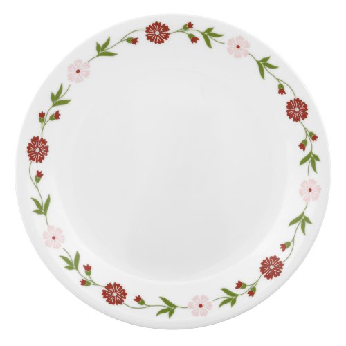 Corelle Ribbon - Corelle Contours Spring Pink 8 1/2-Inch Luncheon Plate