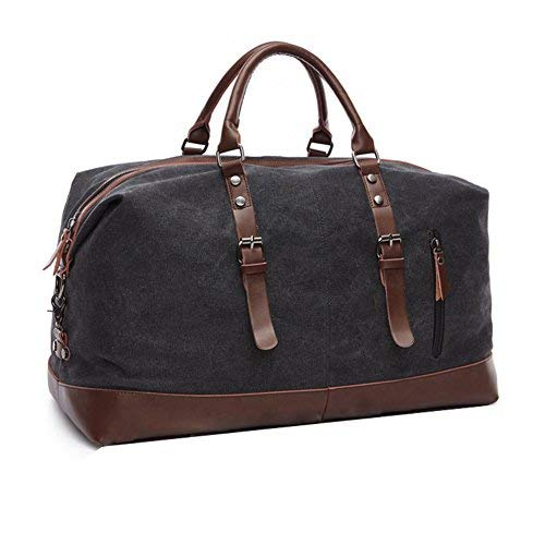 Aizbo Canvas Holdall Travel Carry On Duffel Bags Overnight Weekend Satchel...
