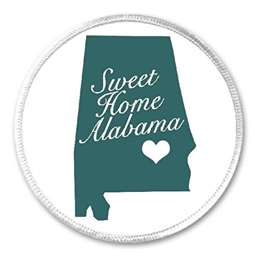 "Sweet Home Alabama - 3"" Sew / Iron On Patch State USA Born Raised Pride"