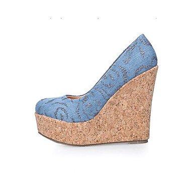 blue Noir Printemps jean ggx Bleu Toile LvYuan Talons de Femme Plat Confort Confort light Décontracté Tissu à clair Chaussures fSSqwFU
