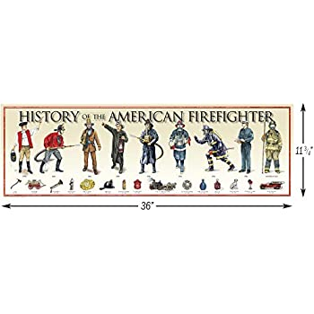 History of The American Firefighter Print - 11 3/4