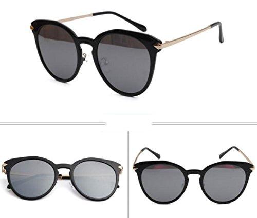 Lady Shopping Sunglasses De Fashion Party Gafas Travel Sol Silver HYa1qv