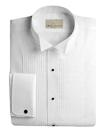 Neil Allyn Men's Tuxedo Shirt 100% Cotton 1/4
