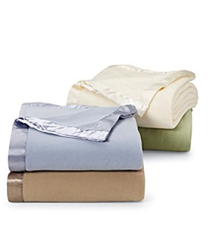 queen size blanket with silk edge - 1