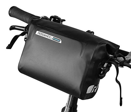 Roswheel Bike Handlebar Bag – Waterproof Bicycle Front Bag Adjustable Cellphone Bag – Tools Organizer Pack with 3L Capacity for Bicycle MTB Road Bike