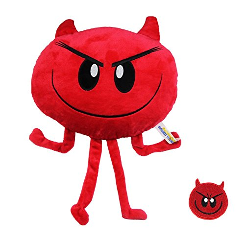 Stuffed Doll 8' Toy Plush (Emoji Movie Plush Doll Pillow Devilicious Devil Face Emotion Stuffed Toys 8'')