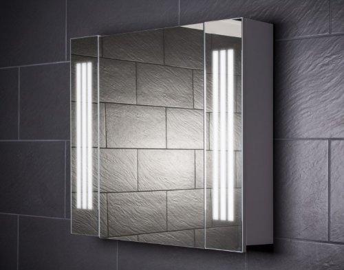 Galdem Loft80 Spiegelschrank Holz 80 X 65 X 15 Cm Weiss Amazon De