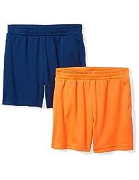 Spotted Zebra Amazon Brand Boys' Toddler & Kids 2-Pack Active Mesh Shorts