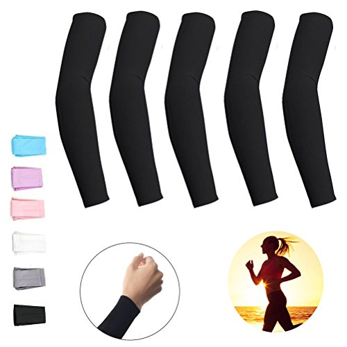 Men's Arm Warmers Dynamic Elastic Compression Arm Sleeves For Sun Protection Arm Warmers Cover Quick Drying Armguards Joggers Sleeves Protectors Traveling