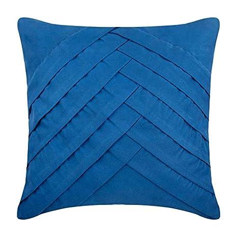 Azul funda cojin, sólido fundas de cojines, 30x30 cm fundas ...
