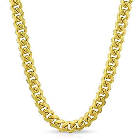 - 41olyLycn 2BL - 14K Yellow Gold Solid Miami Cuban Curb Link Thick Necklace Chains 1.5MM 2MM 2.5MM 5MM, 16″ – 30″, Men & Women, In Style Designz