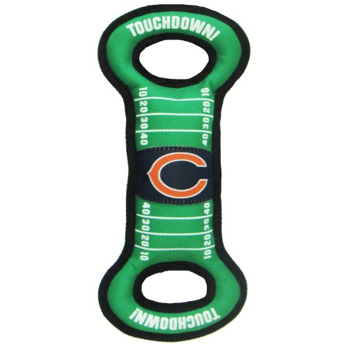 (Pro-Motion NFL Football Field Dog Toy with Squeaker. - Chicago Bears - for Tug, Toss, and Fetch. - Tough & Durable PET Toy)