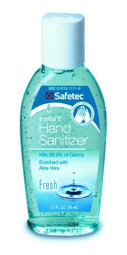 #17355 Safetec A.B.H.C.® Instant Hand Sanitizer Squeeze Bottle - 2 oz. (24 Pack)