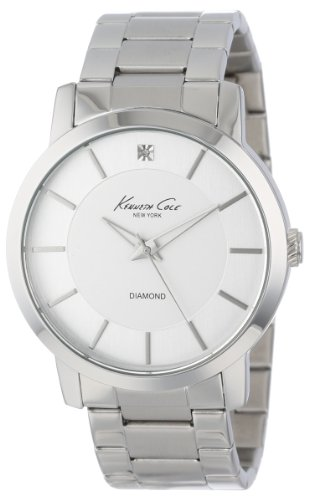 Kenneth Cole New York Men's KC9285 Rock Out Silver Dial Diamond Dial Analog Bracelet Watch