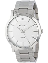 Kenneth Cole New York Mens KC9285 Rock Out Silver Dial Diamond Dial Analog Bracelet Watch
