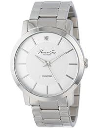 Men's KC9285 Rock Out Silver Dial Diamond Dial Analog Bracelet Watch