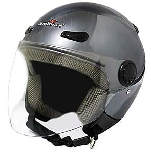 Scotland 120013 Titop xs- Casco de moto con visera, color titanio mate, talla XS (54 cm)