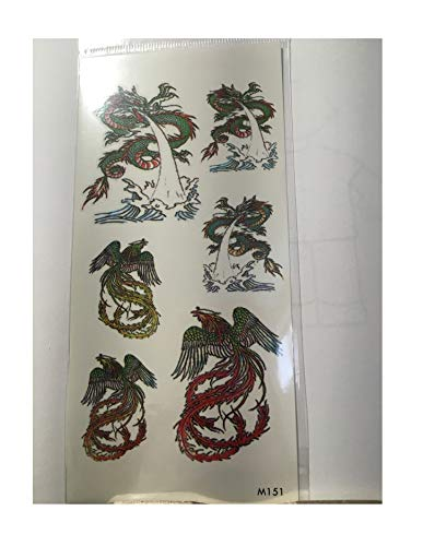 Temporary Tattoos, Flowers Butterfly Tigers Eagles for sale  Delivered anywhere in USA