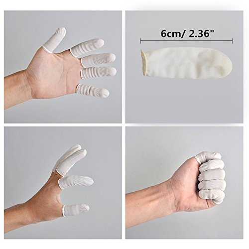 Finger Cots Medium Latex Free Finger Cot Disposable Anti Static Rubber Protective Fingertips, 600 Pcs by MyAoKuE-UP (Image #5)