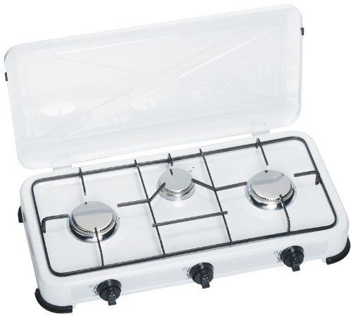 Gas Stove 3-Burner with Stainless Steel Burners 0.73psi Ideal for Camping Kitchen or Outdoor Kitchen Gaskocher