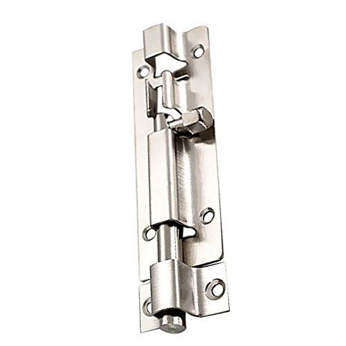 Jili Online Stainless Steel Latch Slide Lock Door Window Gate Barrel Bolt Heavy Duty Hardware 7 Sizes Choice - 6inch 142mmx35mm