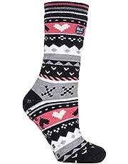 Heat Holders - Womens Winter Fairisle Non Slip Thermal Slipper Socks with Grips