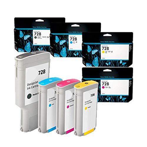 - Toner Spot Remanufactured Full Color Set Ink Cartridges Replacement for HP 728 F9J68A, F9J67A, F9J66A, F9J65A - Matte Black, Cyan, Magenta, Yellow