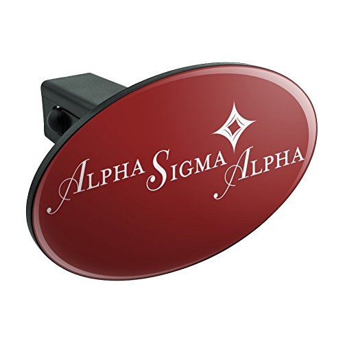 Graphics and More Alpha Sigma Alpha Sorority Logo Fraternity Oval Tow Hitch Cover Trailer Plug Insert 1 1/4 inch - Trailer Alpha Covers Hitch