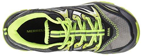 Merrell ml Capra Bolt Lace Waterproof, Zapatos de Low Rise Senderismo para Niños Multicolor (Grey/Citron)